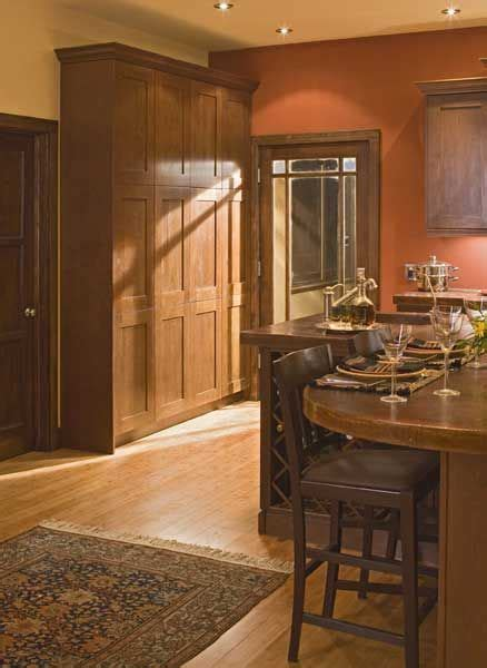 prairie style kitchen  rust colored walls love