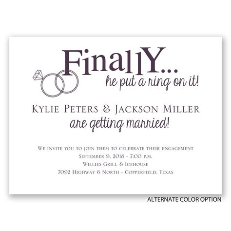 finally engagement invitation invitations