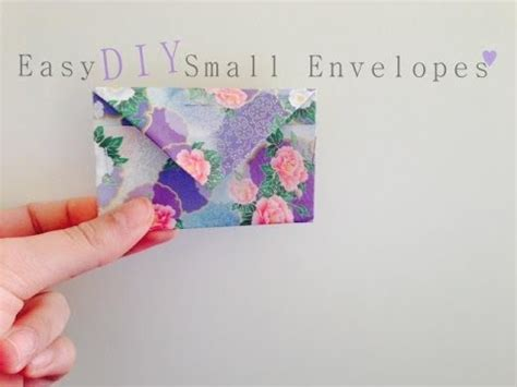 How To Make Small Paper Envelopes - easy diy small envelopes gift bag origami paper