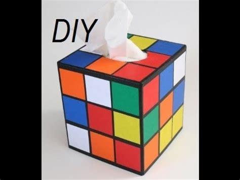 Diy Toilet Paper Holder diy rubik s cube tissue box recycle your shoebox youtube