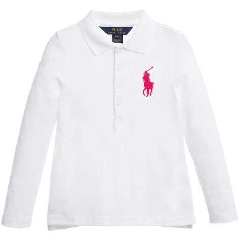 prewalker polo white ralph white big pony cotton polo shirt