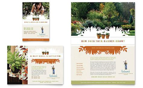 Landscape Design Software Microsoft Landscape Garden Store Brochure Template Word Publisher
