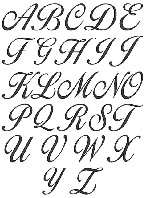 best tattoo font best 25 cursive fonts alphabet ideas on