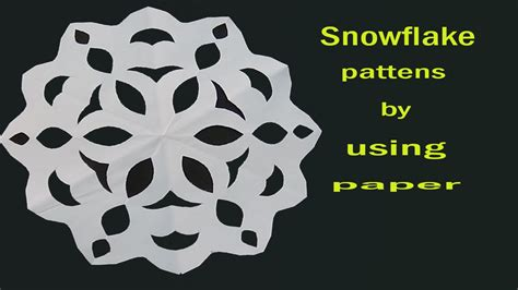How To Make Paper Cutting - how to make a simple paper cut out snowflake for