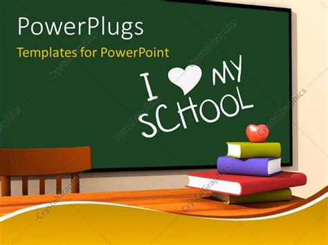 Classroom Powerpoint Templates powerpoint template classroom with multicolor books and