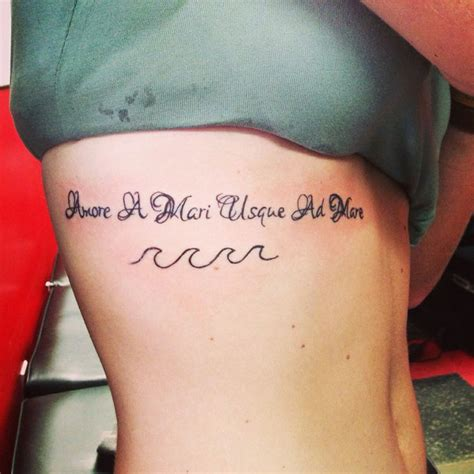 tattoo words latin sayings quot love from sea to sea quot waves latin phrases tattoo