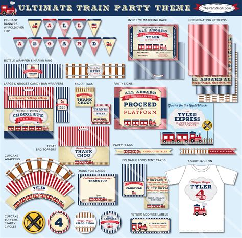 printable train party decorations train party printables