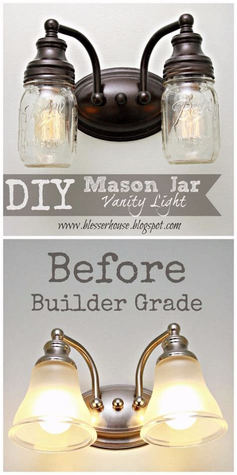 diy bathroom lighting 32 diy mason jar lighting ideas