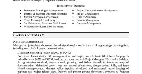 document controller cover letter document controller resume exles cover letter sle