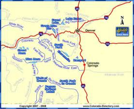 colorado fishing map lakes rivers co vacation directory