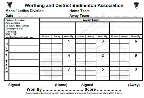 badminton score card template sle club meeting minutes class meeting agenda 07262016