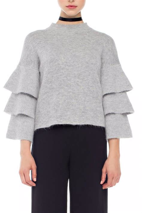 Ruffle Sleeve Sweater endless ruffle sleeve sweater from new york city by