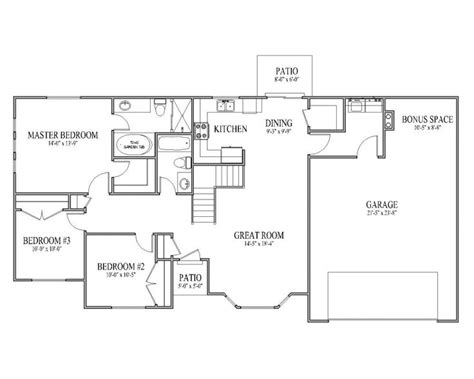 rambler plans floorplans rambler house plan ashborn main floor rambler