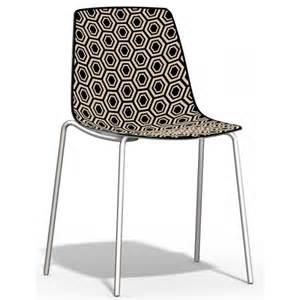 chaise de cuisine empilable en plexiglas alhambra