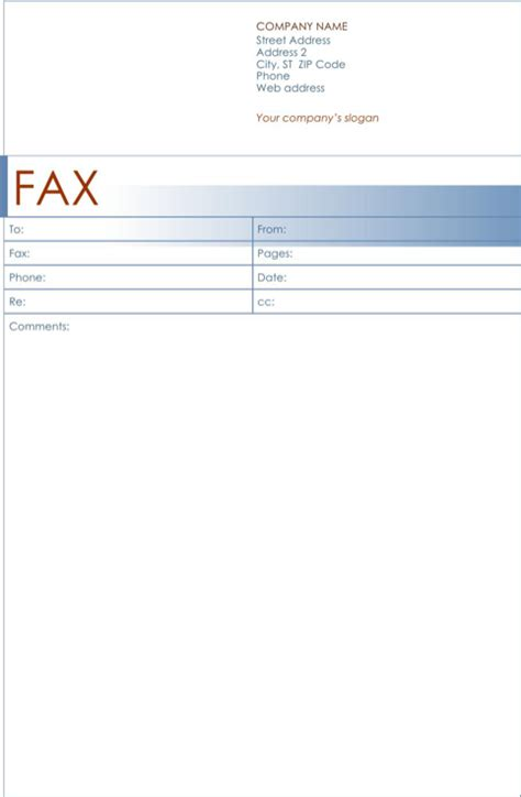 exle fax cover letter fax cover sheet template for excel pdf and word