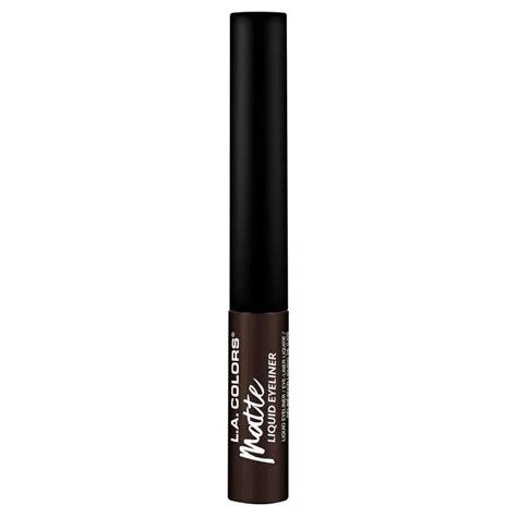 la colors eyeliner buy la colors liquid eyeliner matte brown
