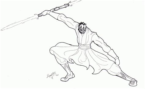 coloring pages of darth maul darth maul coloring page coloring home
