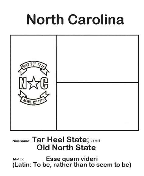 north carolina state flower coloring page