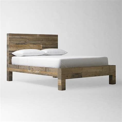 west elm bed emmerson reclaimed wood bed natural