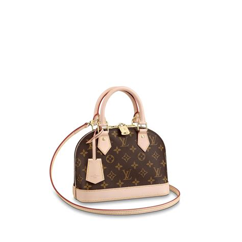 alma bb monogram canvas handbags louis vuitton