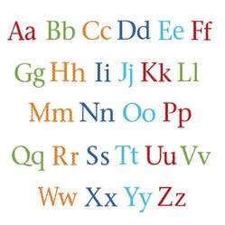 childrens alphabet wall stickers upper and lower case by