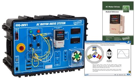 portable ac variable frequency drives learning system