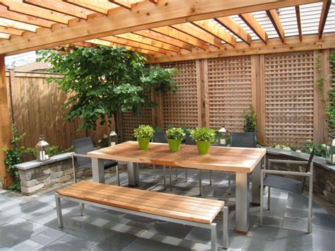 Fence Ideas For Patio by Vincents Metal Corner Outdoor Privacy Patio Ideas