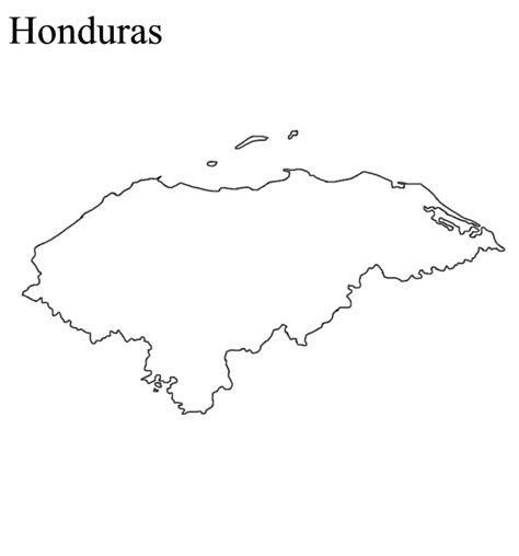 Honduras Map Free Coloring Pages Honduras Flag Coloring Page