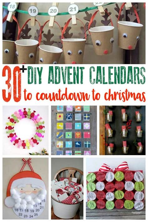 calendar ideas to make 30 creative ideas for advent calendars