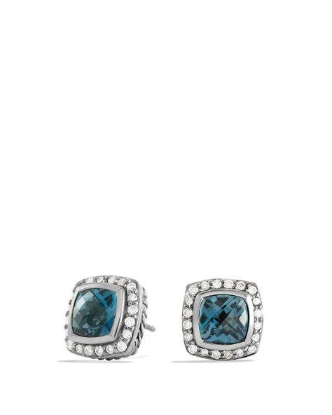 david yurman albion earrings with hton blue
