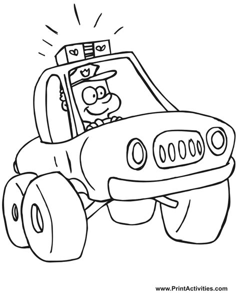 coloring pages with police police color pages coloring home