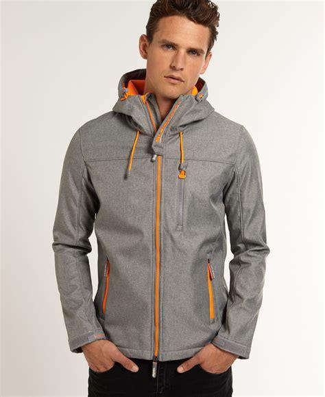 new mens superdry windtrekker jacket light grey marl ebay