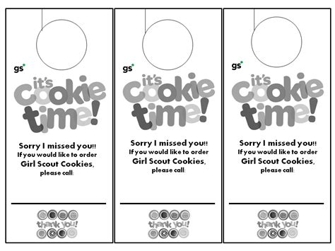 Pin By Tisha Cox On Girl Scout Cookie Fun Pinterest Scout Door Hanger Template