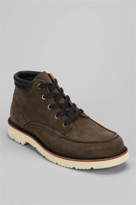 timberland abington chukka boot in green for olive