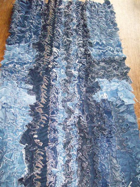 Diy Denim Rug by Recycled Denim Scatter Rug Handmade