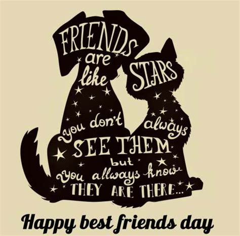 friends are like stars. free happy best friends day ecards