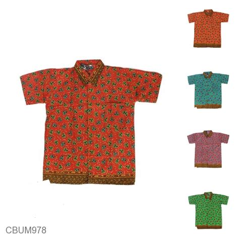 Kemeja Batik Motif Godhong kemeja batik anak motif godhong warna size lll kemeja