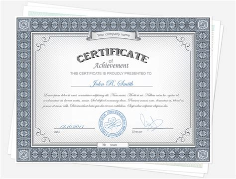 Drive Certificate Template by Data