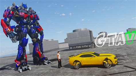 mod gta 5 transformers gta v bumblebee vs optimus prime gta 5 transformers