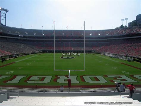 sanford stadium student section sanford stadium section 141 rateyourseats com