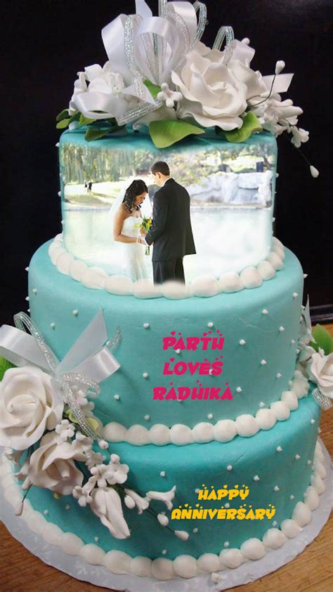 Wedding Cake With Name by Name Photo On Anniversary Cake Android Apps On Play