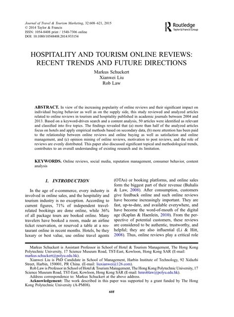 research paper future work research paper topics in hospitality industry
