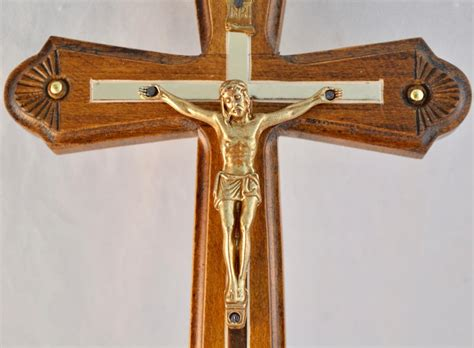 Handmade Wall Crosses - large wooden wall carved crucifix jesus