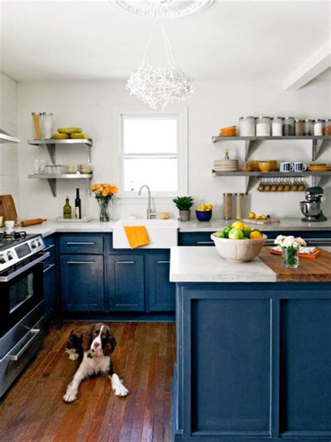 kitchen with blue cabinets beautifully colorful painted kitchen cabinets