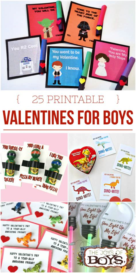 valentines boys 25 printable valentines for boys quot boy approved quot valentines