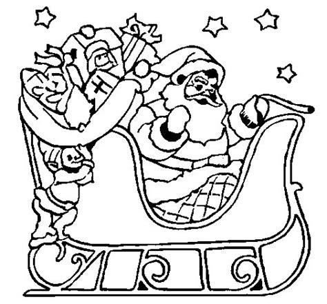 dibujos para colorear de papa noel santa claus viejito dibujo de papa noel en su trineo para colorear dibujos net