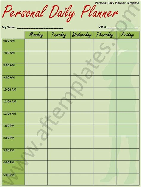 personal calendar template 3 best daily planner template all free word templates