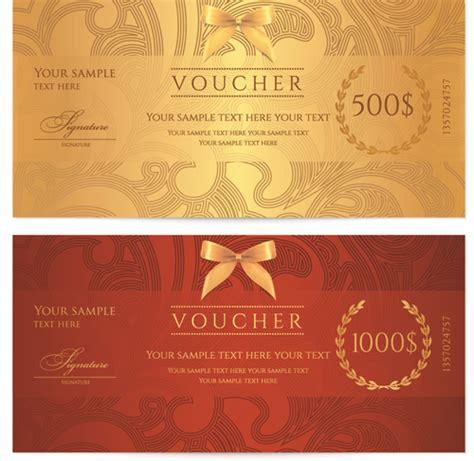 design house voucher exquisite vouchers template design vector set 05 welovesolo