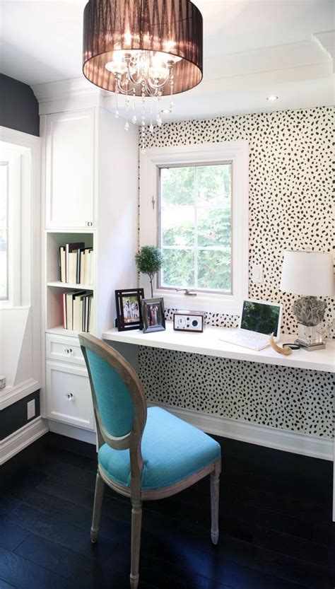 office wallpaper ideas picture of animal printed wallpaper accentuates a small