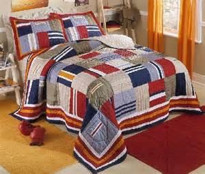 Boy Quilt Bedding Sets Ronnies Patchwork Quilt Bedding Set Decorating Ideas